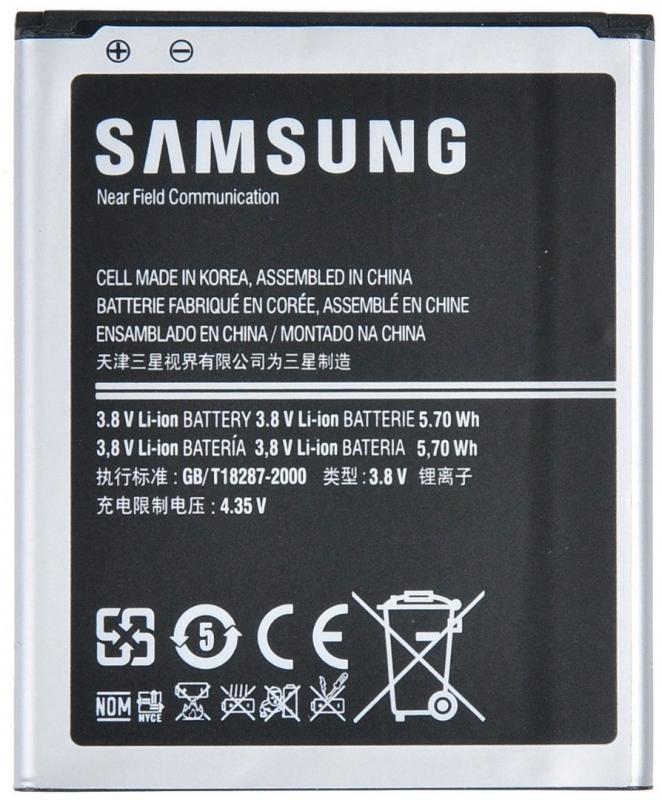 Аккумулятор мобильного телефона Samsung EB-F1M7FLUCSTD для Samsung Galaxy S3 mini i8190, 1500 mAh