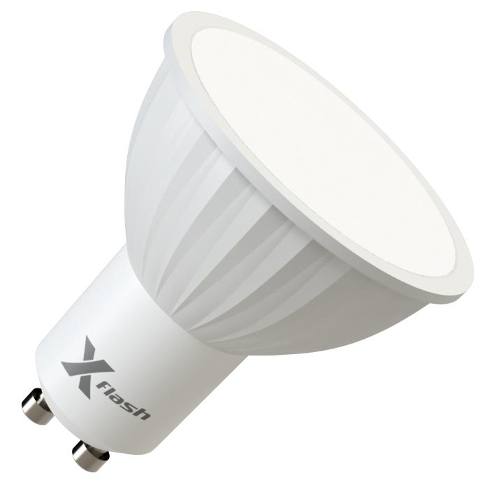 Светодиодная LED лампа X-flash MR16 GU10 4W, 220V 46089 желтый свет, матовая