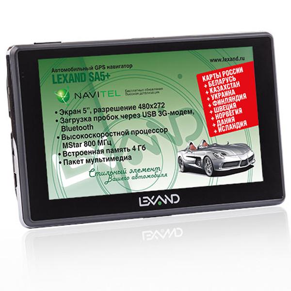GPS навигатор Lexand SA5+ New 5″ Навител: Россия, Украина, Казахстан, Беларусь