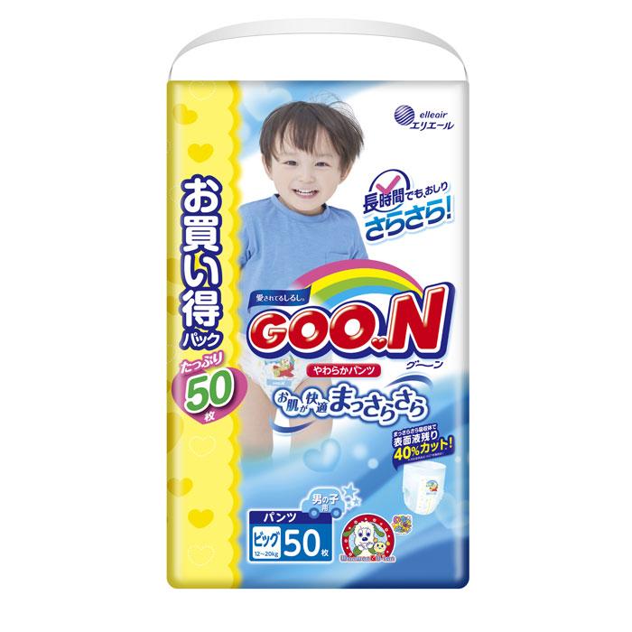 Подгузники Goon Трусики Ultra Jumbo Pack (12-20кг) 50шт для мальчиков