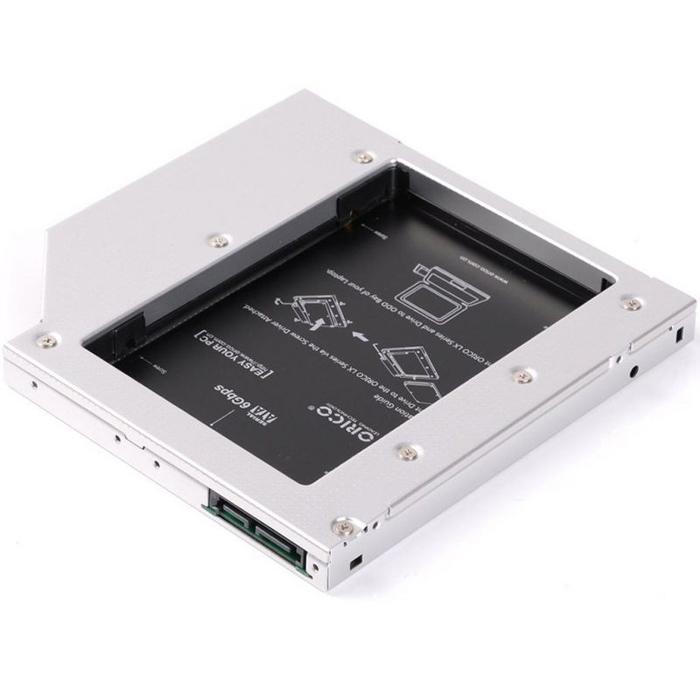 Салазки Orico для замены привода в ноутбуке 12.7мм на 2.5″ HDD/SSD SATA3 ( L127SS )