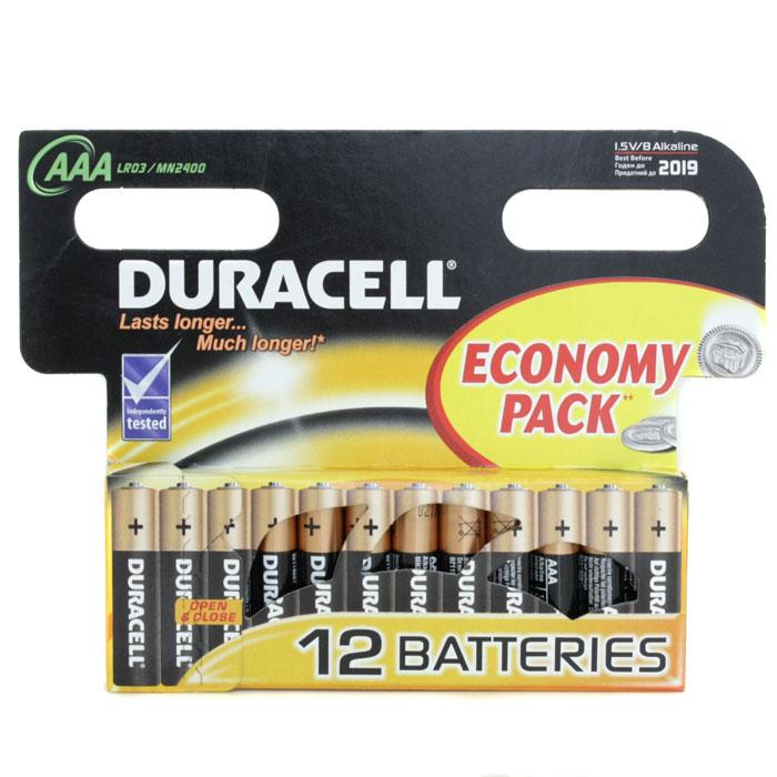 Батарейки Duracell LR03-12BL Basic AAA 12шт