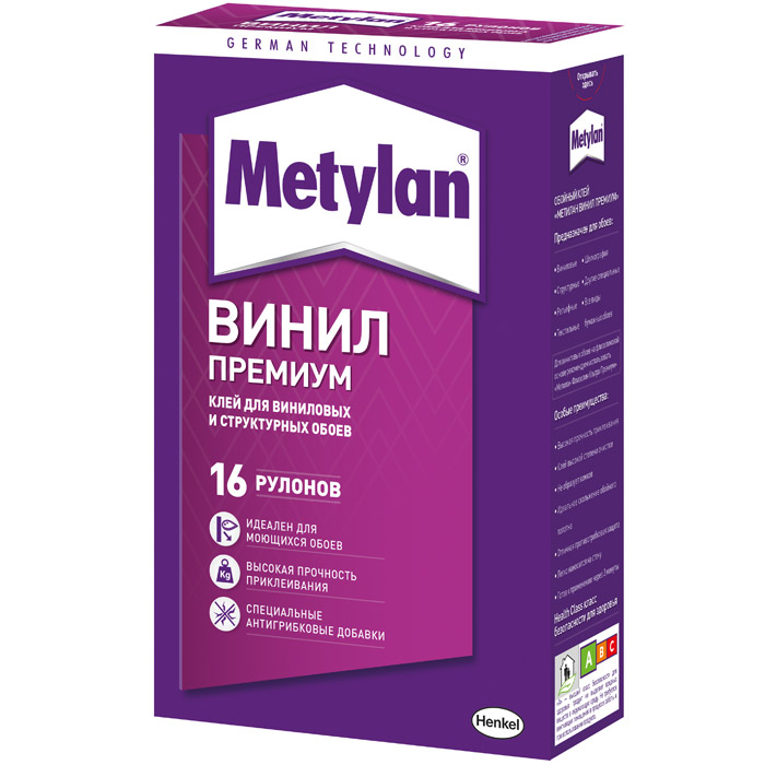 Клей обойный Metylan Винил Премиум без индикатора 500г 1518428