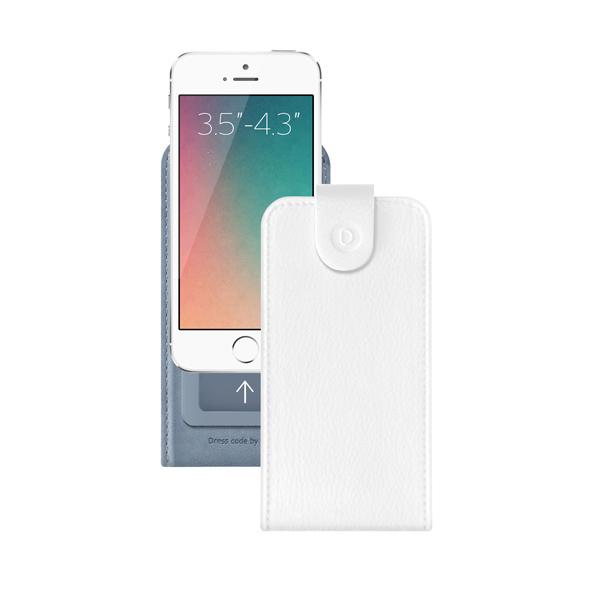 Чехол универсальный для сотовых телефонов 3.5″-4.3″ Deppa Flip Cover, белый