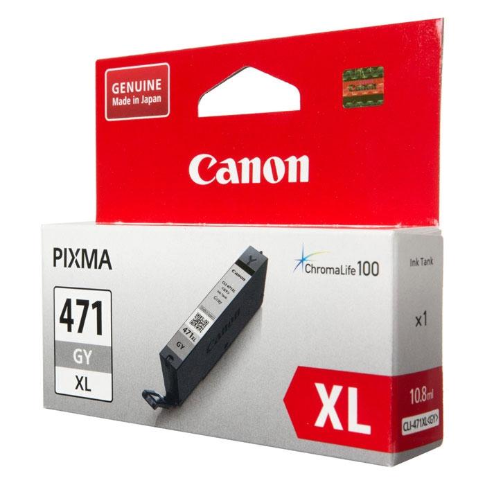 Картридж Canon CLI-471XL GY Серый. 290 страниц.
