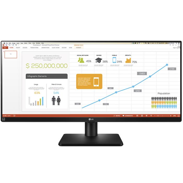 Монитор ЖК LG 34UB67-B 34″ AH-IPS DVI HDMI DisplayPort