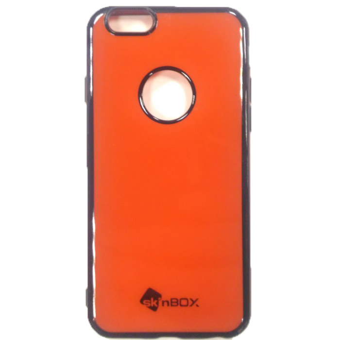 Чехол SkinBox, Силиконовая накладка для iPhone 6 / iPhone 6s, красный