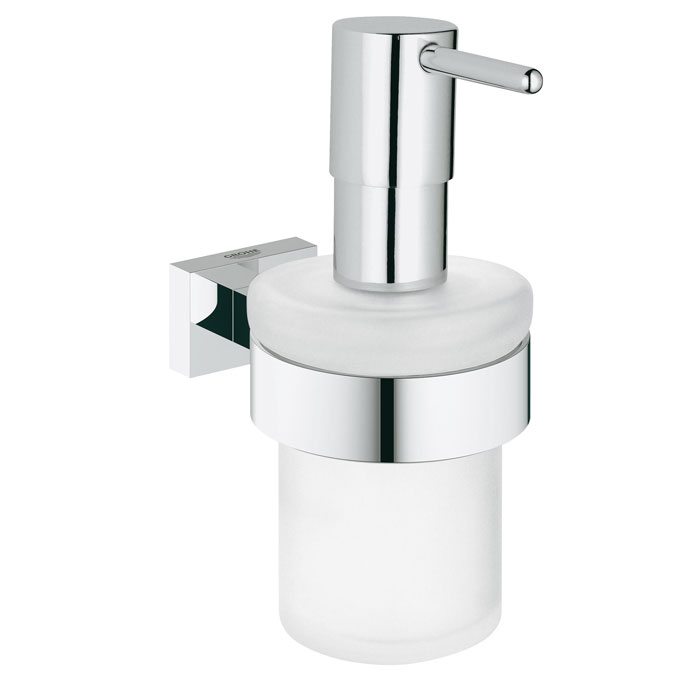 Дозатор жидкого мыла с держателем Grohe Essentials Cube New 40756001