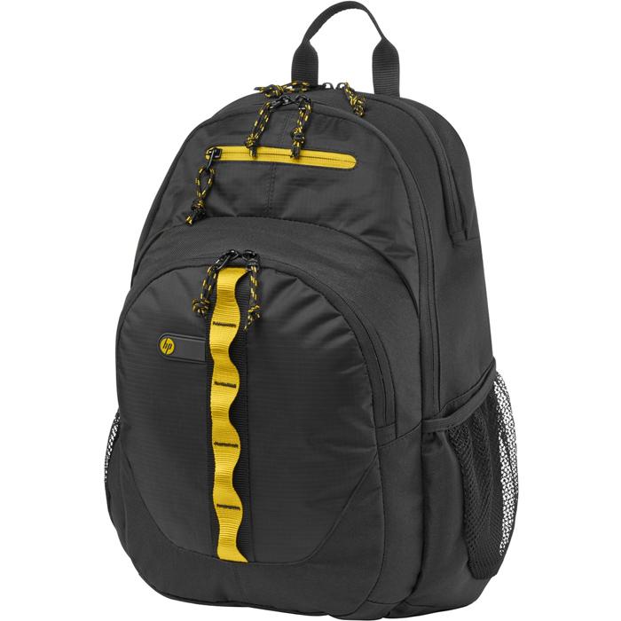 Рюкзак для ноутбука 15.6″ HP Спорт, желто-черный, нейлоновый