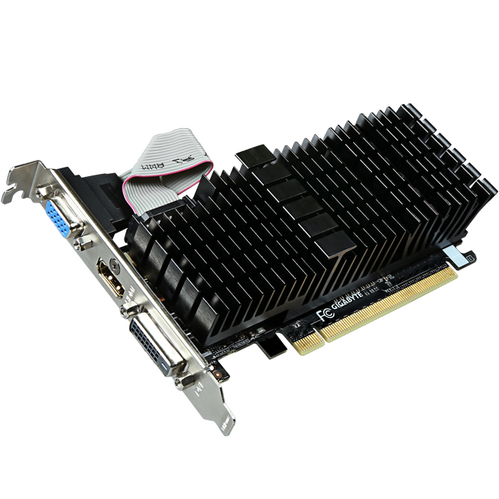 Видеокарта PCI-E GIGABYTE GeForce GT 710 2048Mb, DDR3 ( GV-N710SL-2GL)