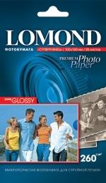 Фотобумага 10×15 Lomond 260г/м2 20л, белый высокоглянцевое для струйной печати ( 1103102 )