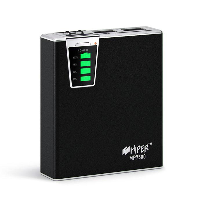 Внешний аккумулятор универсальный HIPER MP7500 7500mAh черный