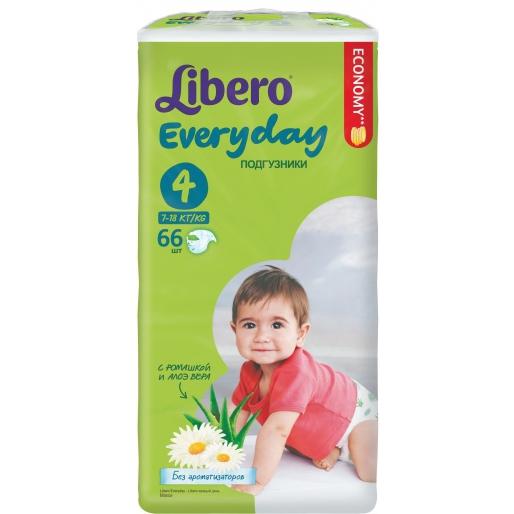 Подгузники Libero Everyday 7-18 кг, 66шт