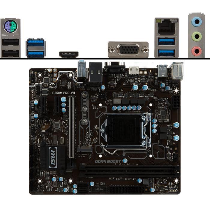 Материнская плата MSI B250 LGA1151 DDR4 ( B250M PRO-VH ) mATX, Ret