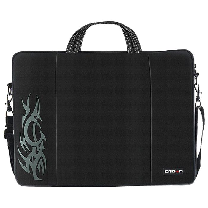 Сумка для ноутбука 15.6″ Crown CMB-437, нейлоновая, черная