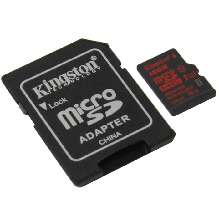 Флеш-карта microSDHC 16Гб Kingston , UHS-1, U3, Class 10 ( SDCA3/16GB ) адаптер SD