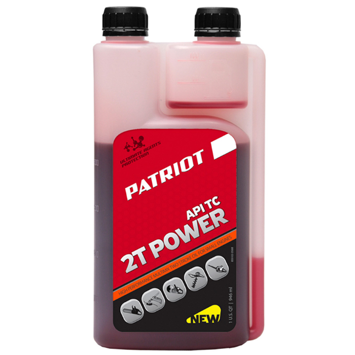 Масло 2-х тактное с дозатором PATRIOT 850030568 Power Active 2T 0,946л