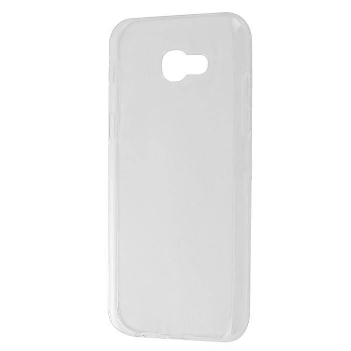 Чехол Gecko Силиконовая накладка для Samsung Galaxy A5 (2017) SM-A520F, прозрачно-глянцевая, белая