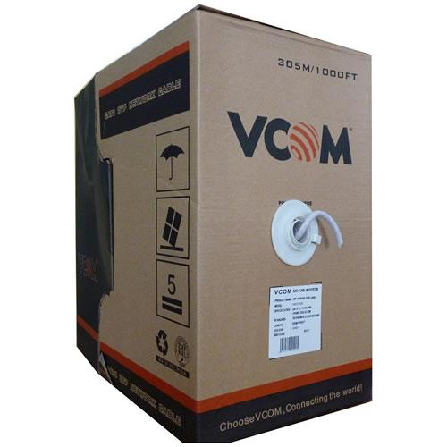 Кабель витая пара Vcom UTP кат. 5e 4 пары 0.50мм одножильный (305м.)