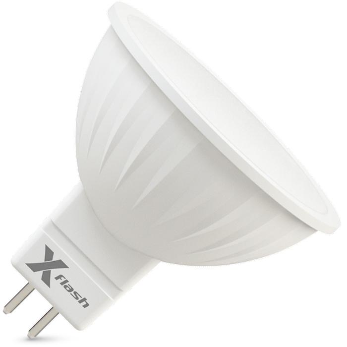 Светодиодная LED лампа X-flash MR16 GU5.3 4W 220V 46102 желтый свет, матовая