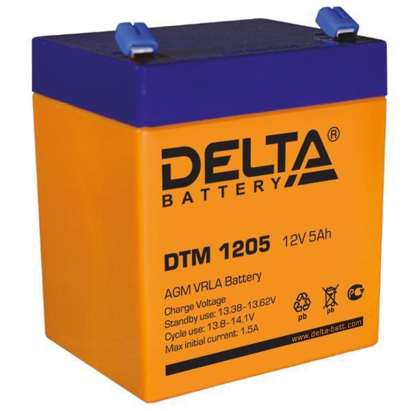 Батарея Delta DTM 1205 (12V 5Ah)