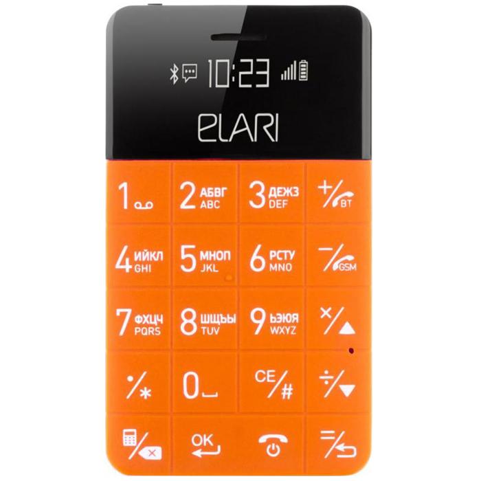 Сотовый телефон Elari CardPhone оранжевый