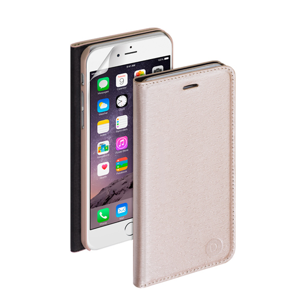 Чехол Deppa Wallet Cover PU с пленкой для iPhone 6 Plus/ iPhone 6s Plus, золотистый