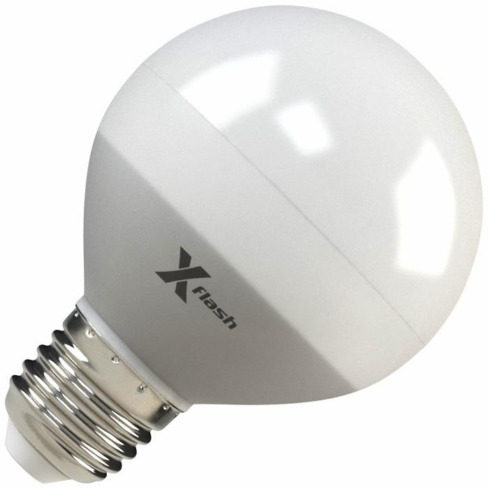 Светодиодная LED лампа X-flash Globe G70 E27 8W 220V желтый свет