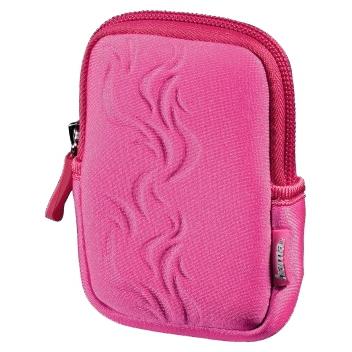 Чехол для фотокамеры Hama Fancy Neoprene Flame 70E розовый