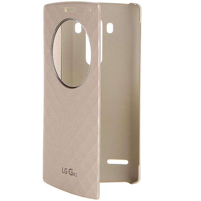 Чехол LG QuickCircle CFV-110 для LG H736 G4s gold