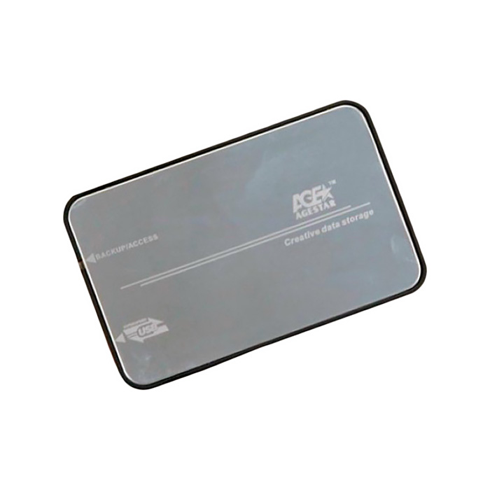 Корпус для HDD 2.5″ SATA-USB3.1 Type C AgeStar 31UB2A8C Silver