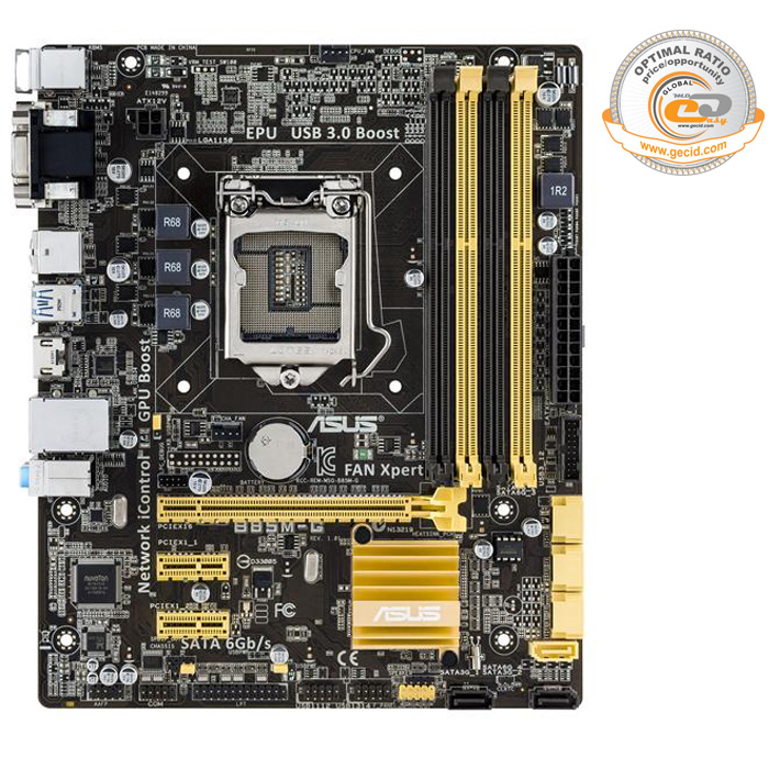 Материнская плата ASUS B85 LGA1150 DDR3 ( B85M-G ) mATX, Ret