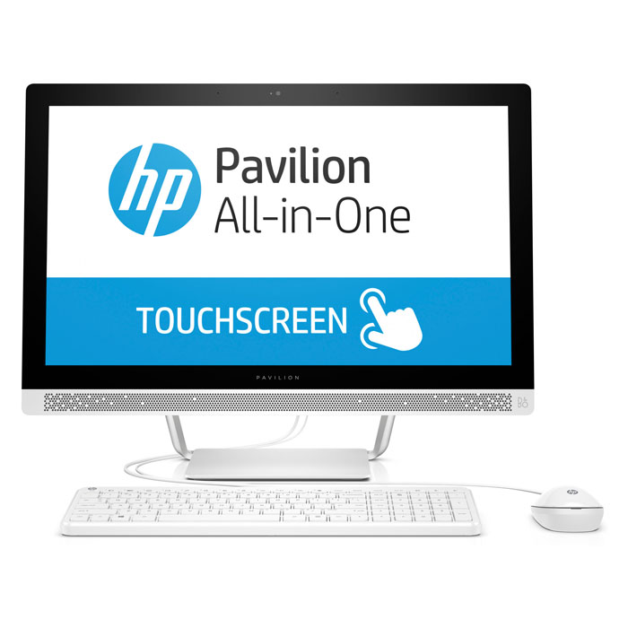 Моноблок HP Pavilion 24-b257ur 24» FullHD Touch Core i5 7400T/8Gb/1Tb+128Gb SSD/NV GT930MX 2Gb/DVD/Kb+m/Win10 белый ( 1AW97EA )