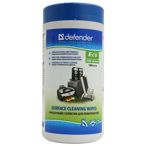 Туба с чистящими салфетками Defender , для поверхностей , 100 шт ( CLN30300 )