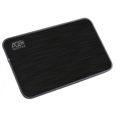 Корпус для HDD 2.5″ SATA-USB3.0 AgeStar 3UB2A8 Black, Alum