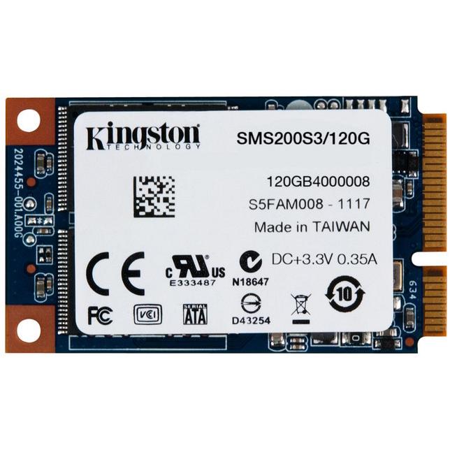 Накопитель 2.5″ SSD mSATA3 120Гб Kingston mS200 ( SMS200S3/120G )