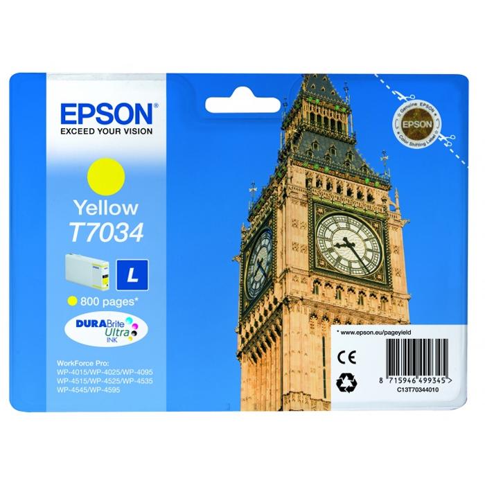 Картридж EPSON C13T70344010 L Yellow для WorkForce Pro 4000/4500