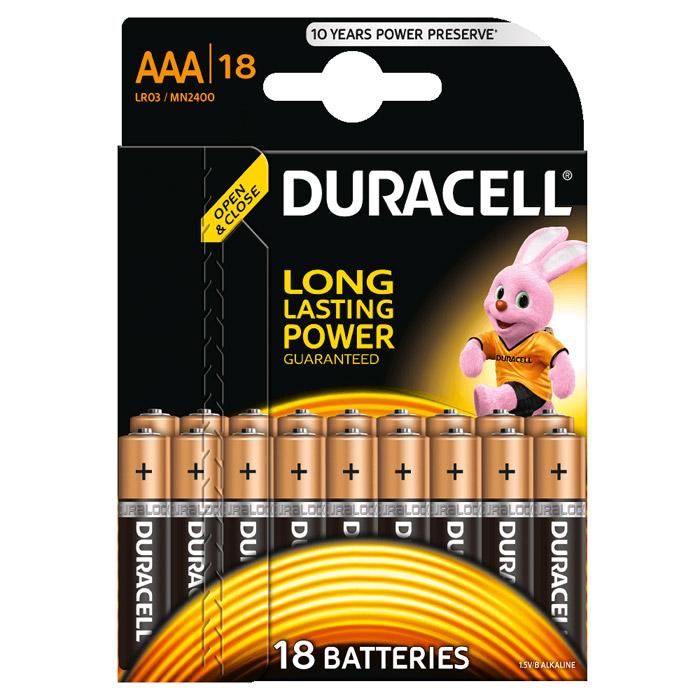Батарейки Duracell LR03-18BL Basic AAA 18шт