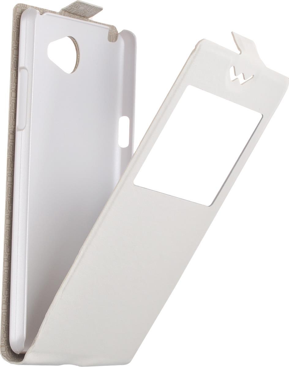 Чехол Flip-Slim AW skinBOX для LG Max X155, белый