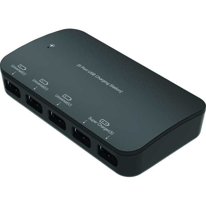 Стационарное зарядное устройство Partner Smart 5U, 5 USB, 7.2A