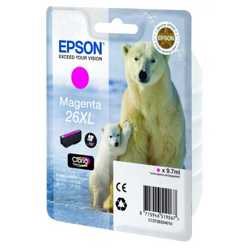 Картридж EPSON C13T26334010 Magenta для XP-600/605/700/800 увеличенный