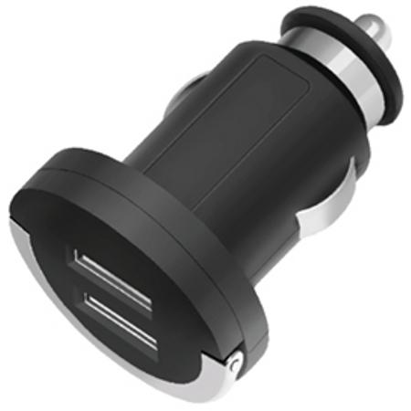 Зарядное устройство автомобильное Deppa Ultra 2xUSB, ток 2.1A, черное (11204)
