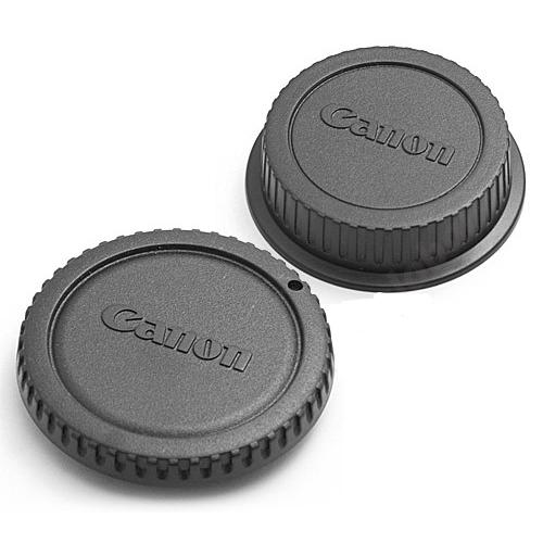 Крышка для объектива и фотоаппарата задняя Fujimi для Canon набор 2 штуки