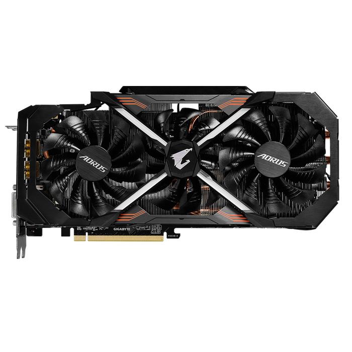 Видеокарта PCI-E GIGABYTE GeForce GTX 1080 8192Mb, AORUS, DDR5 ( GV-N1080AORUS-8GD ) Ret