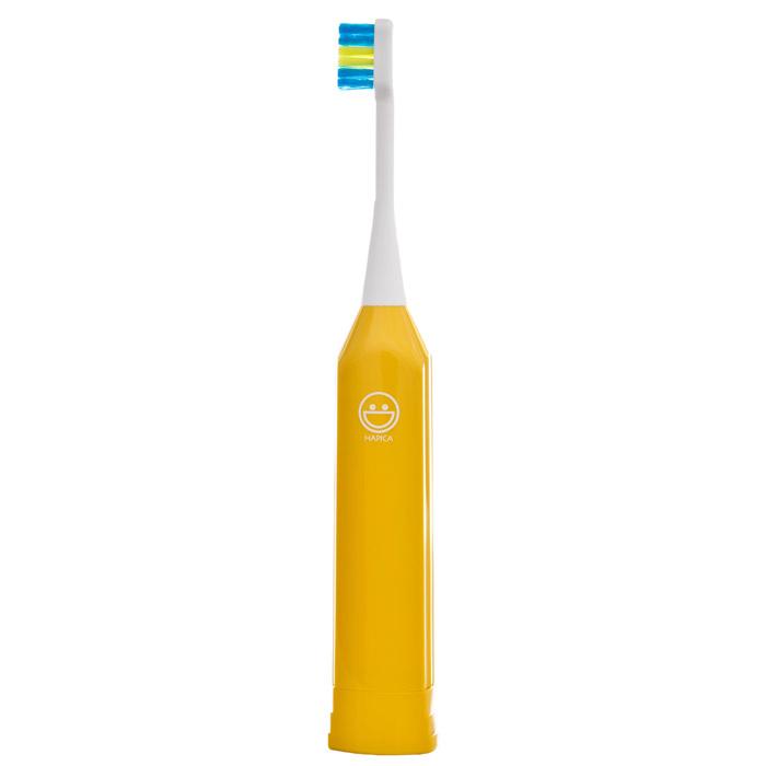 Электрическая звуковая зубная щетка Hapica Kids, желтая