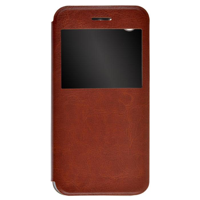 Чехол SkinBox Lux AW для ZTE Blade X7, коричневый