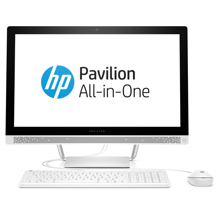 Моноблок HP Pavilion 24-b210ur 24» FullHD Intel G4560T/4Gb/1Tb/DVD/Kb+m/Win10 White ( 1AW62EA )