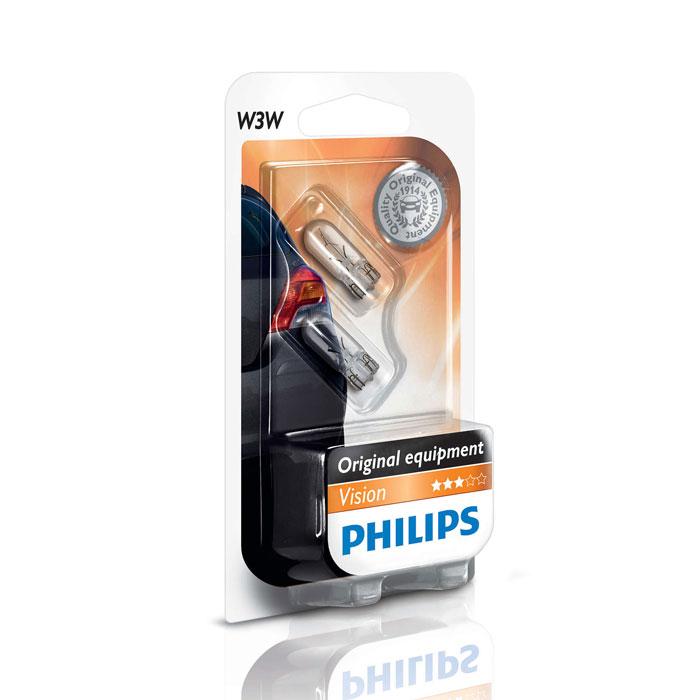 Лампа Philips W3W 3W 2 шт.
