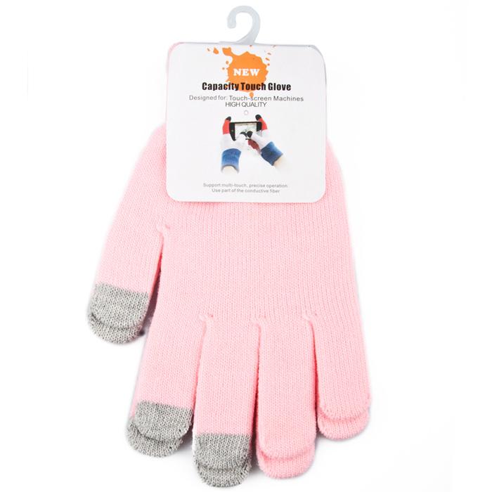 Перчатки для мобильных устройств Liberty цвет розовый, размер М