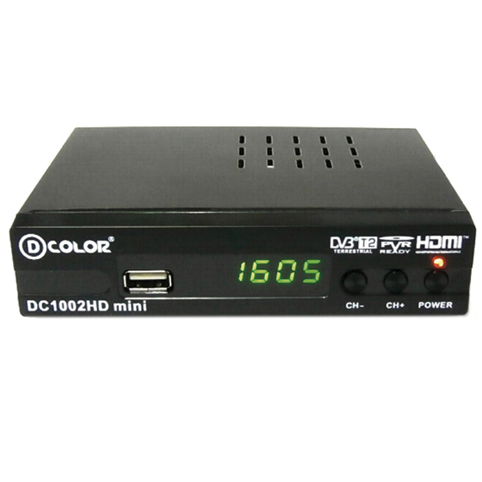 ТВ ресивер D-Color DC1002HD черный DVB-T2